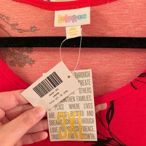 LuLaRoe Dresses - LuLaRoe Red Floral Jessie w/ pockets!